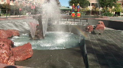 Horse fountain Stock Footage