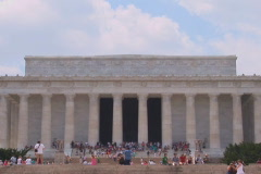 NTSC: Lincoln Memorial - wide Stock Footage