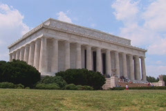 NTSC: Lincoln Memorial - left side Stock Footage
