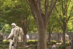 NTSC: Korean War Veterans Memorial Stock Footage