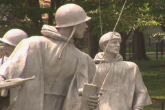 NTSC: Korean War Veterans Memorial - zoom out Stock Footage