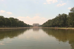 NTSC: Lincoln Memorial - with mall Stock Footage
