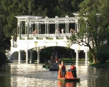 Pedal boat scene (Buenos Aires) Stock Footage