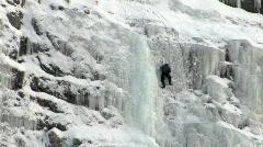 Ice climber HD Stock Footage