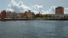 Willemstad, Netherlands Antilles - pan left - stock footage
