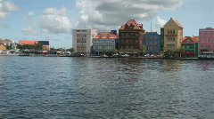 Willemstad, Netherlands Antilles - pan right Stock Footage