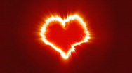 Burning Heart Loop Stock Footage