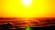 Sun over Beach Stock Footage