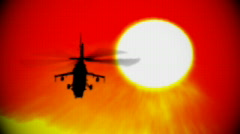 Helicopter sun and heatwaves Stock Footage