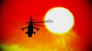 Stock Video Footage of helicopter sun and heatwaves