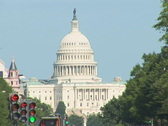 NTSC: US Capitol & Pennsylvania Avenue - tilt down Stock Footage