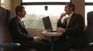 Business On the Go with Lap Top Stock Footage