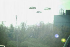 ufo sighting (3 formation) - stock footage