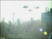 Ufo sighting (3 formation) Stock Footage