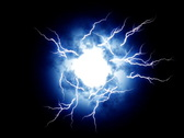 Electrical energy ball - digital animation Stock Footage