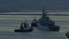Boat & Tugs in Naples Stock Footage