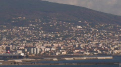 Naples Seaside Houses Wide Stock Footage