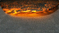 Lava flowing  (Render) 720p - stock footage