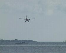 Landing Hydroplane Stock Footage