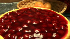 Cherry Chesse Cake Stock Footage
