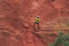 NTSC: Mountaineer in the Garden of the Gods - stock footage