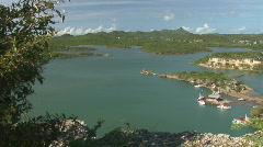 Santa Marta bay - wide Stock Footage