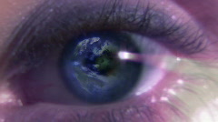 Womans eye Stock Footage