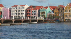 Willemstad, Netherlands Antilles - pontoon bridge Stock Footage