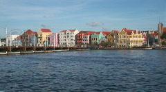 Willemstad, Netherlands Antilles - pontoon bridge Stock Footage