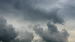 moody clouds0 - stock footage