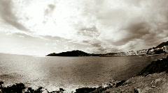 ibiza town coast sea sky spain balearic island - stock footage