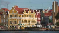Willemstad, Netherlands Antilles - pan Stock Footage