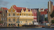 Stock Video Footage of Willemstad, Netherlands Antilles - pan
