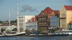 Willemstad, Netherlands Antilles - pan - stock footage