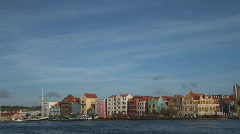 Willemstad, Netherlands Antilles - pan Stock Footage