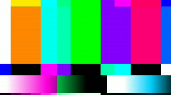 Video television static distortion test card Stock Footage