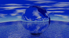 Chrome Earth spinning 720p Stock Footage