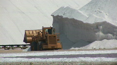 Salt farm with truck - close Stock Footage