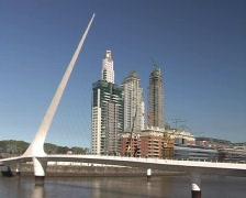 Puente de la Mujer (Buenos Aires) - stock footage