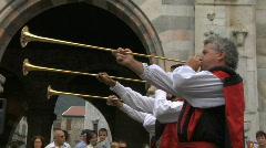 Medieval Drummer 13 Stock Footage