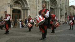 Medieval Drummer 11 - stock footage