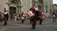 Stock Video Footage of Medieval Drummer 11