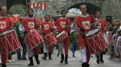 Medieval Drummer 03 Stock Footage