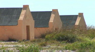 Red Slave Huts Stock Footage