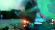 Dex turntable music dj party vinyl record player Stock Footage