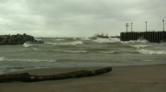 Heavy Surf - Lake Erie - MOS - stock footage