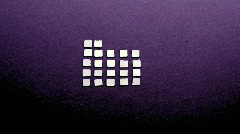 Mirrored squares silver shine pattern background music equalisers Stock Footage