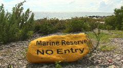 Marine reserve Stock Footage