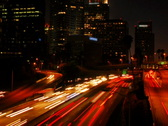 City Traffic at Night Time Lapse Stock Footage