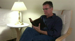 reading the bible 2 - stock footage
